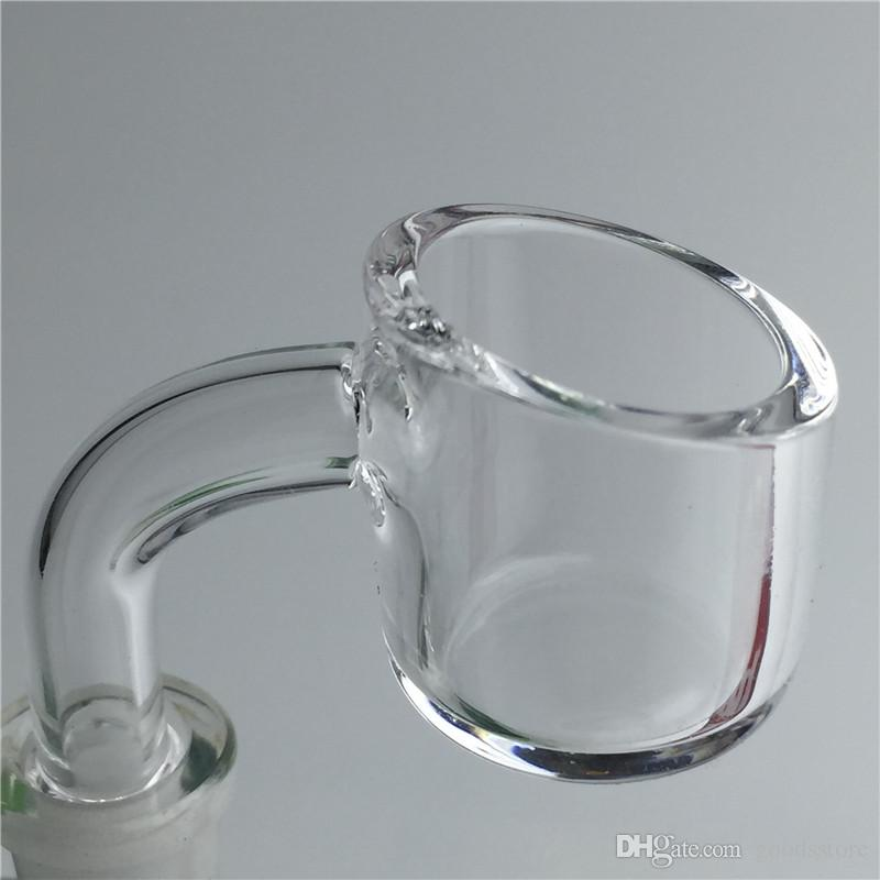 New XL Quartz Banger Nail Water Pipes with 10mm 14mm 18mm Male Female Clear joint Domeless Honey Bucket Quartz Nails