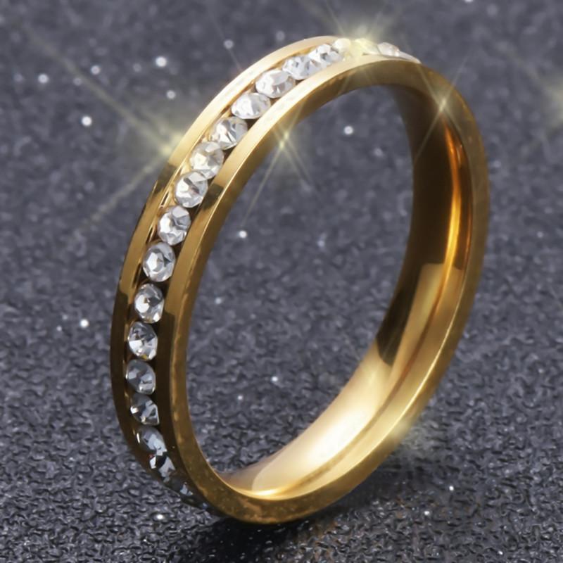 Grosshandel Nie Verblassen Gold Uberzogener Ring Edelstahl Schmuck