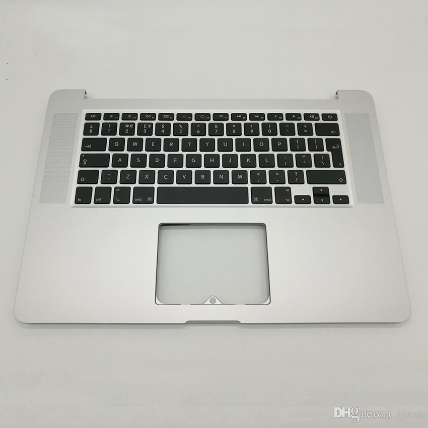 newest 509b2 862ba Replacement UK Palmrest Cover For MacBook Pro Retina 15 A1398 Top Case  Cover With UK Keyboard 2013 2014