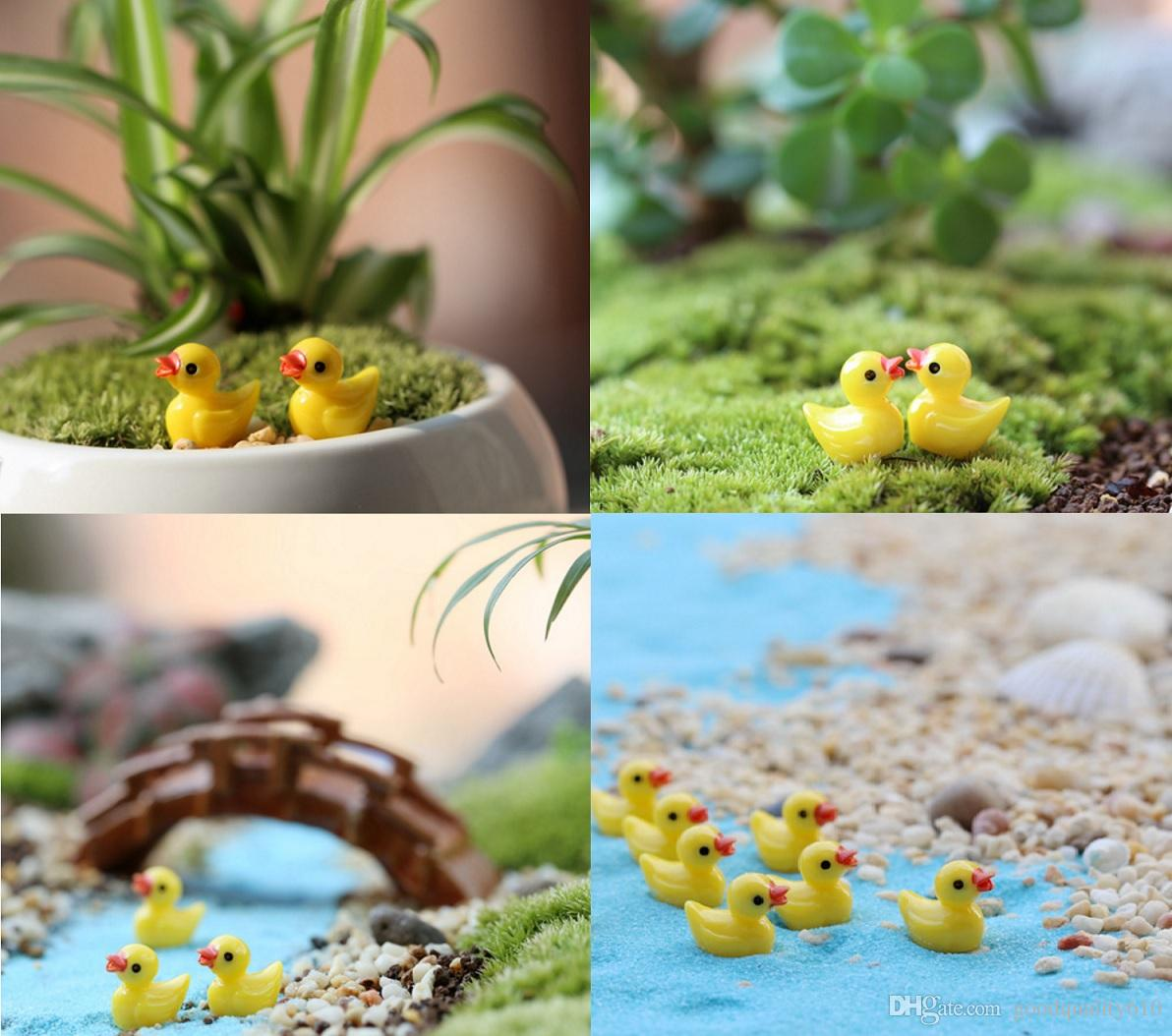 Résine Canard Miniatures Paysage Accessoires Pour La Maison Jardin Décoration Scrapbooking Artisanat Diy