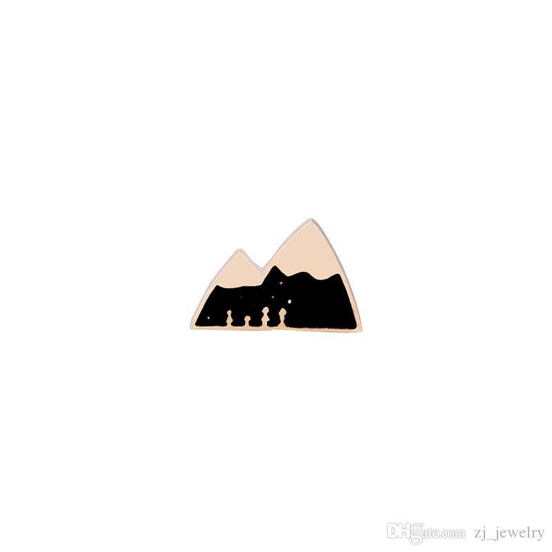 Badges for Clothes Brooch Enamel Pins Cartoon Cute Alpaca Apple Pineapple Mountain House Lapel Pin Collar For Women Girl Pins