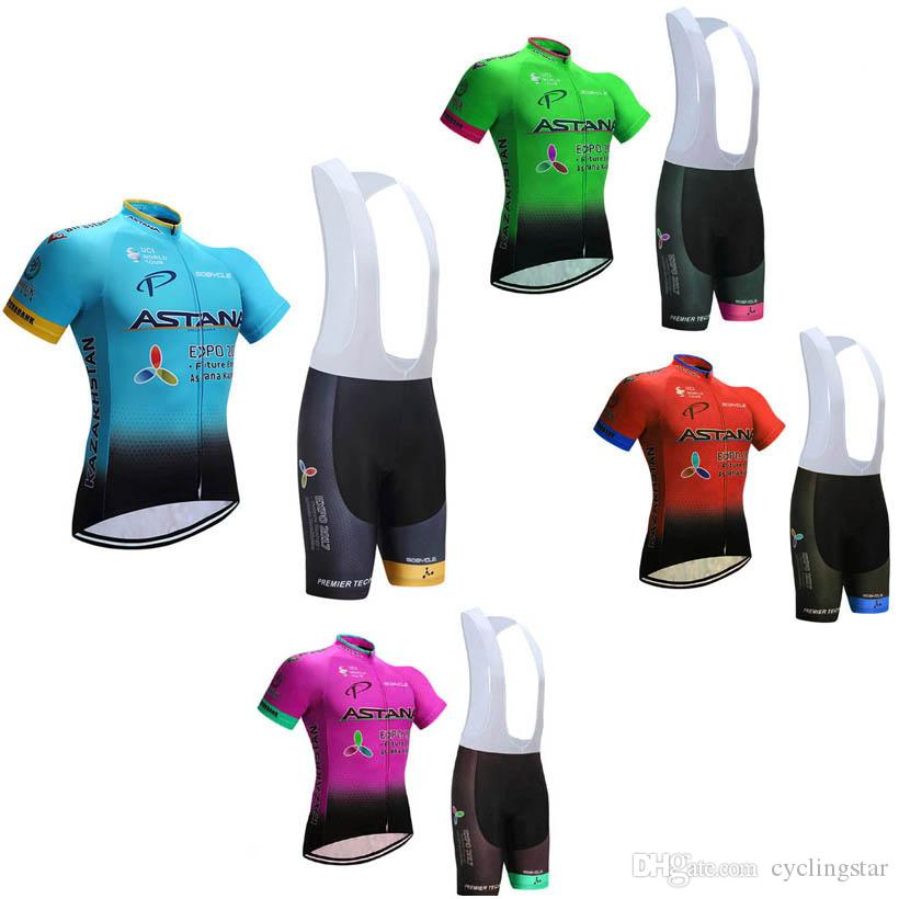 2017 New Team ASTANA Cycling Jersey Breathable Pro Racing Bike Cycling  Clothing Set Ropa Ciclismo Summer Sportswear F2203 Giordana Cycle Clothing  From ... 955f5b4dd