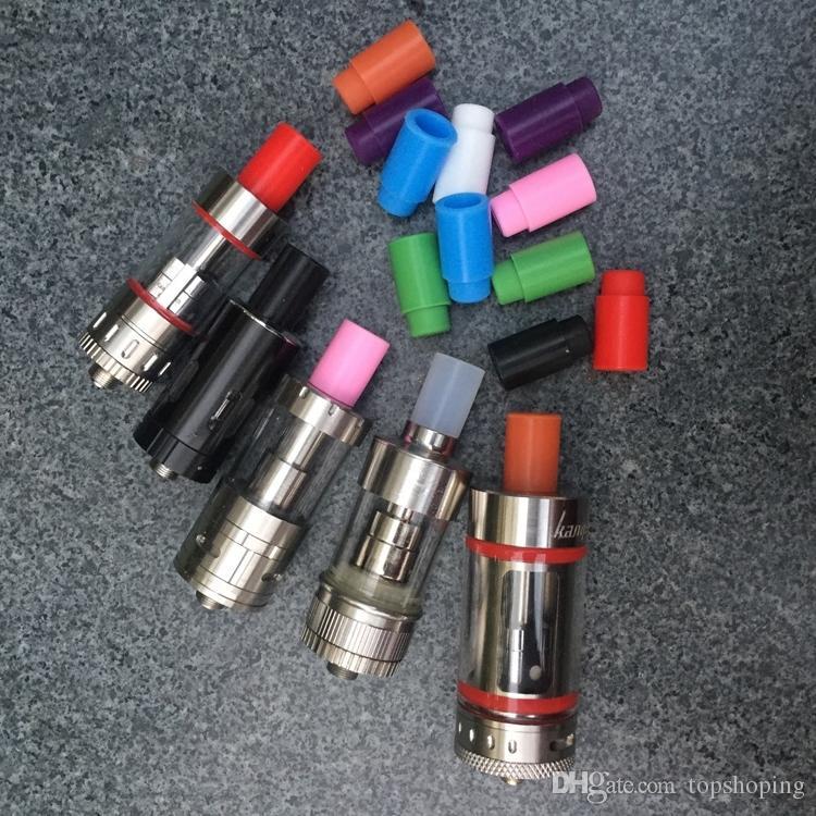 510 Cubierta de boquilla de silicona Puntas de goteo Disposable Colorido Silicon Capuchas de prueba Puntas de goma de prueba corta Probador Cap para RDA Tanque atomizador Vape