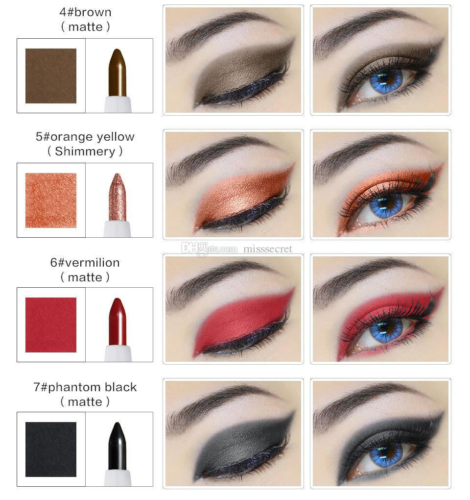 HUAMIANL Eye Shadow Pencil Pigment Kit Waterproof Shimmer and Matte Huamianli Eyeshadow Pencil Eyeshadow Palette eyes Cosmetics