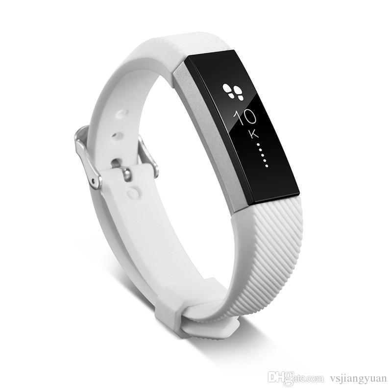 2017 correas de repuesto de silicona caliente banda para Fitbit Alta reloj inteligente Neutral clásico pulsera correa de muñeca banda con cierre de aguja