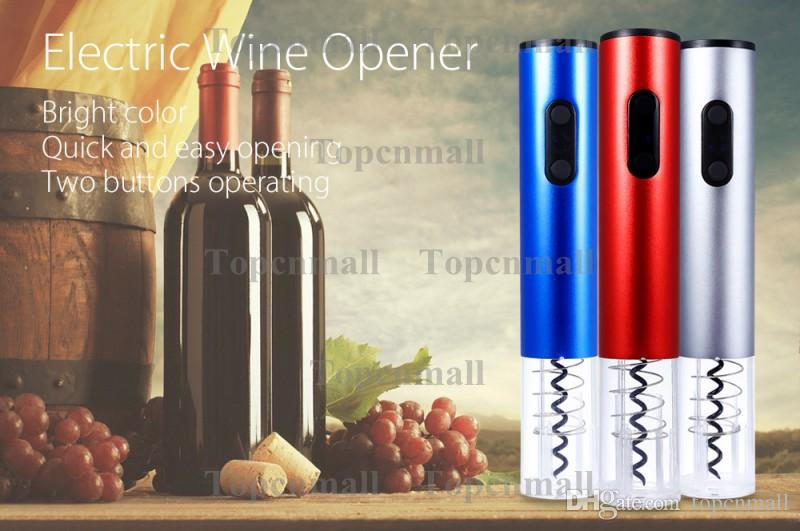 Electric Wine Opener Electric Automatic Cordless Red Wine Corkscrew Bottle Opener Tool Foil Cutter Barware 5W 6V Wine Openers Battery mode