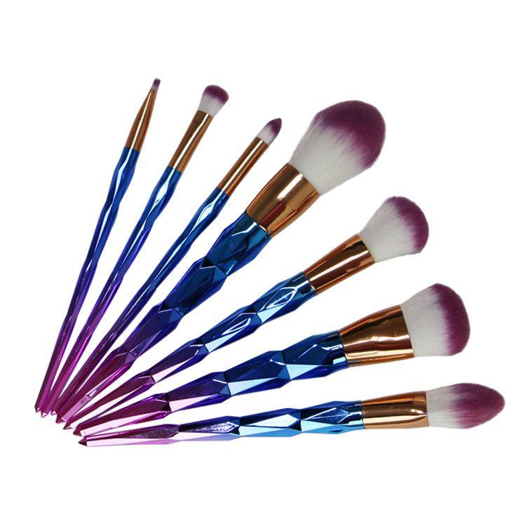 Diamond makeup brushes colorful make up brush nylon wool makeup brush makeup tools Gold Purple