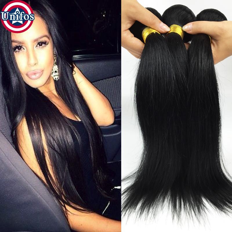 Brazilian straight human hair sew in weave jet black virgin 32 pmusecretfo Images