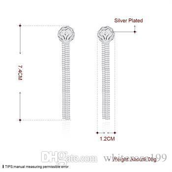 Partihandel - lägsta pris julklapp 925 sterling silver mode örhängen E94