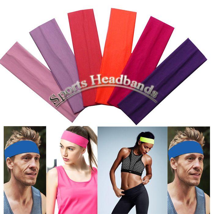 Algodão estiramento headbands yoga faixa de cabelo softbol esportes sweatband elástico esportes