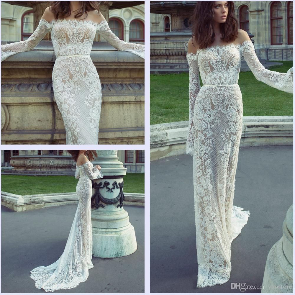 Ester Haute Couture 2017 Full Lace Off Shoulder Long Sleeve ...