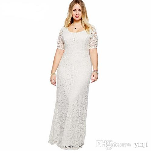0dc28f7994341 2017 Women Elegant Lace Party Dress Plus Size 7XL 8XL 9XL Short ...