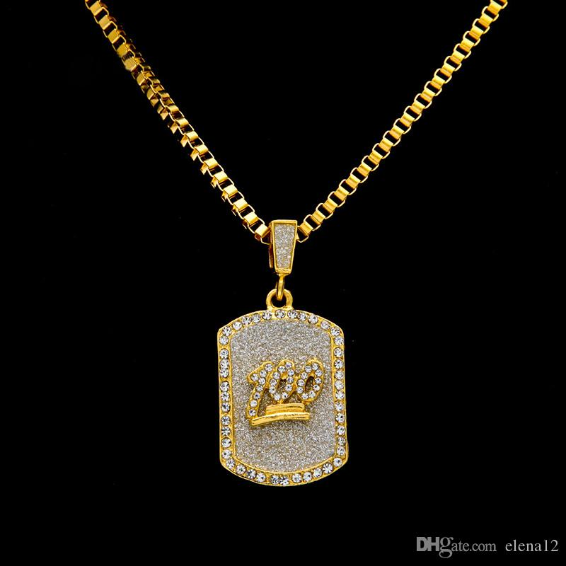 Wholesale male jesus tag necklaces men jewelry full rhinestone wholesale male jesus tag necklaces men jewelry full rhinestone design filling pieces mens hip hop gold fashion chain necklaces for gifts silver pendants aloadofball Images