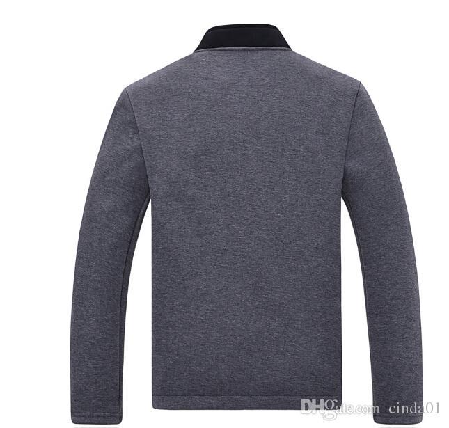 Herren Stehkragen Jacken 2017 Neuheiten Mode Langarm Slim Fit Solid Frühling und Herbst Casual Männlich Pullover Mäntel