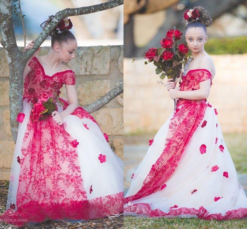 Compre Bonito Vestido De Niña De Las Flores 2017 Nuevo Llega 100 ...