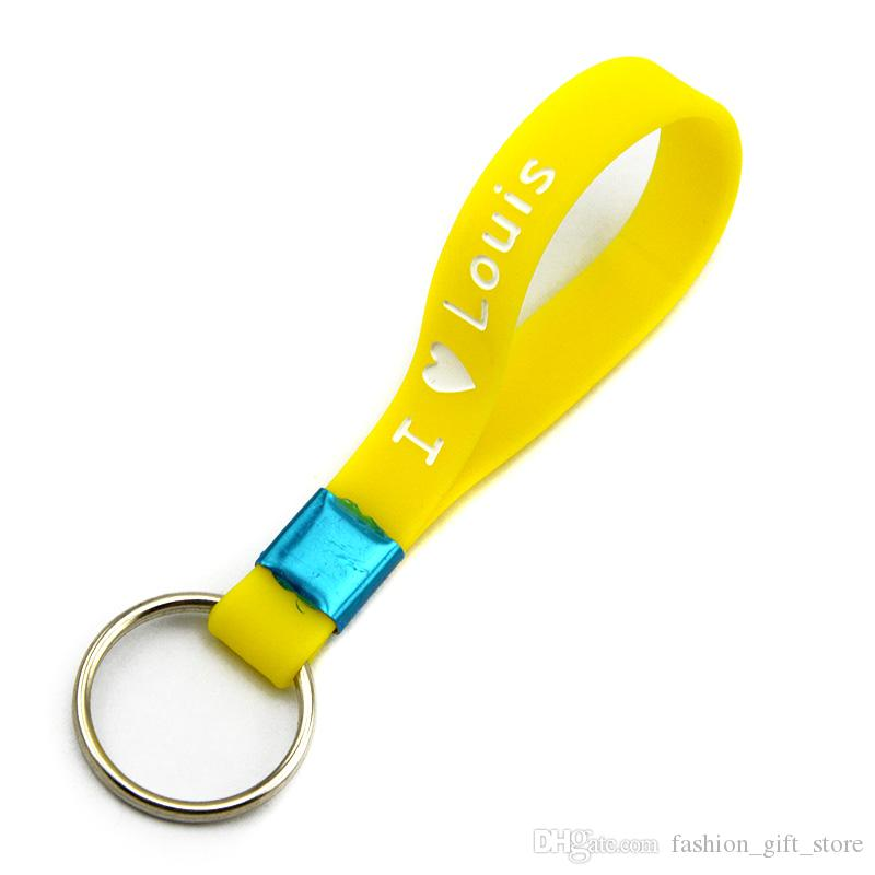 Hot Sell I Love One Direction Silicone Wristband Keychain Key Holder Key-ring With Name: Niall Zayn Liam Louis