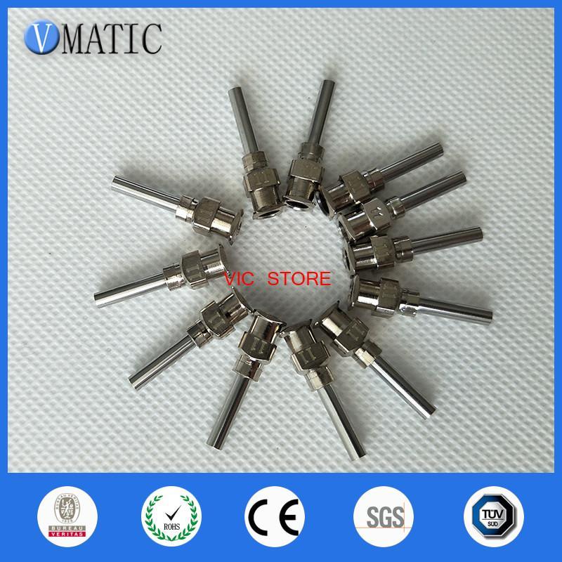 0.5 inch Tip Length 11G All Metal Tips Blunt Stainless Steel Glue Dispensing Needles Syringe Needle Tips