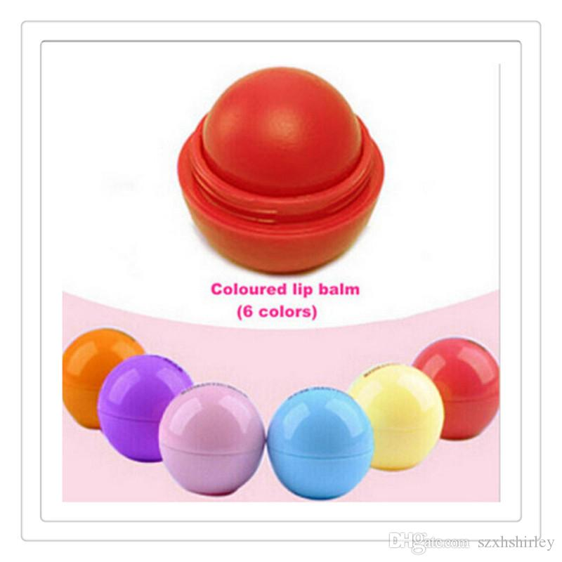 Wholesale New Makeup 3D Ball Lips Balm Lip stick Round Moisturizing Lip Balm Natural Plant Sphere Lip Pomade Fruit Embellish Lips Care Tools