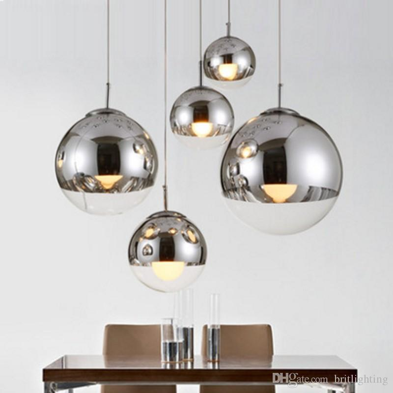 single pendant lighting. Plated Glass Ball Pendant Lamp Modern Single Lamps Energy Saving Mirror Clothing Store Featured Storehanging Lighting