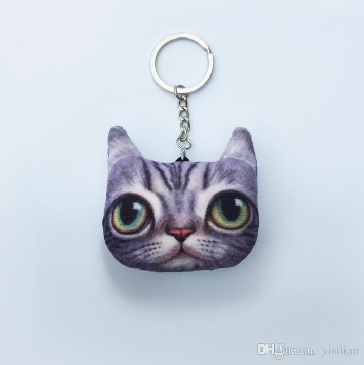 Nette Katzenkatzen-Haupttelefon-Autobeutel-Zusätze keychain des Karikaturmeow-Sternes nette senden kleine Geschenke R184 Arts und Crafts Mischungsauftrag