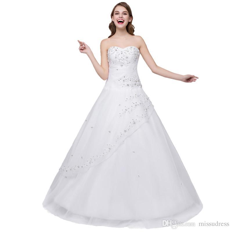 reputable site 30114 543af Auf Lager Schatz billige Hochzeitskleider in China gemacht Bestickte  Hochzeitskleid Perlen Lace Up Vintage Brautkleid