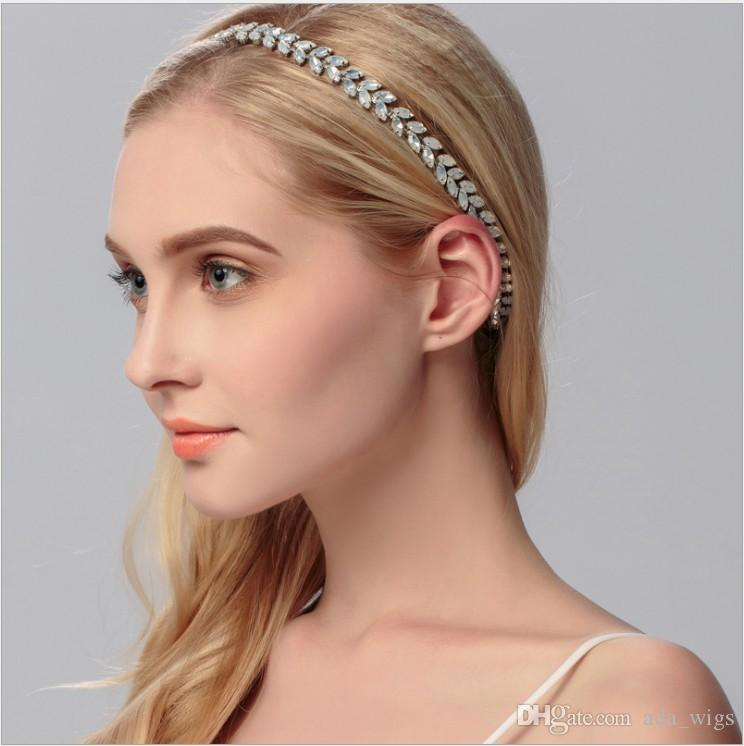 New handmade wedding bridal prom women headband silver plated bling flower hair accessories ms evening hair jewelry white flower hair band new handmade wedding bridal prom women headband silver plated bling flower hair accessories ms evening hair jewelry