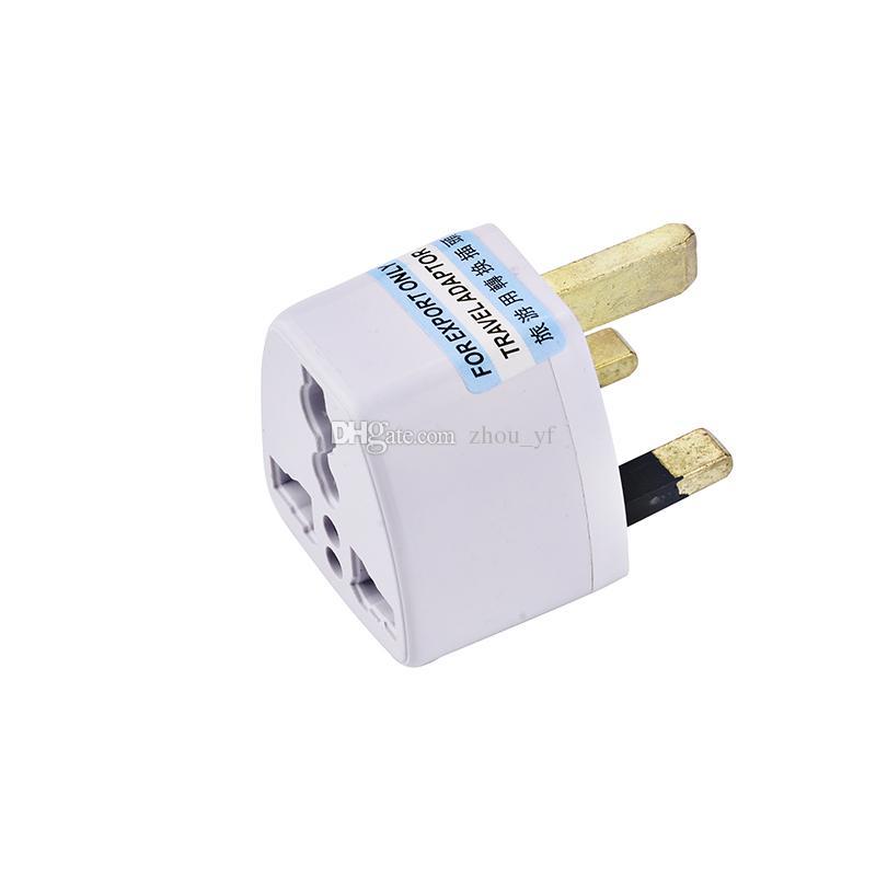 Adaptador de viagens universal UE US AU para UK CA Viagem Plug Plug Charger Adaptador Conversor 250V 10A Socket Converter Branco