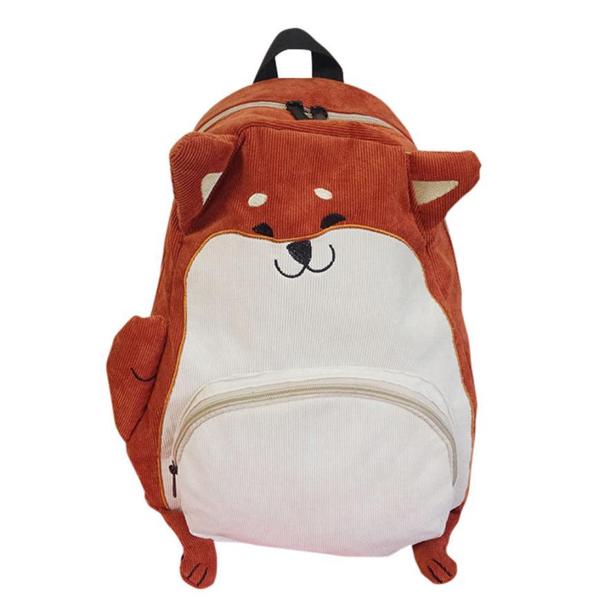 Bags for high school students - Wholesale 2017 Japanese Cute Cartoon Animals Backpack School Bags For Girls Larger Capacity Corduroy Backpack High School Students Bag Dee Laptop Backpacks