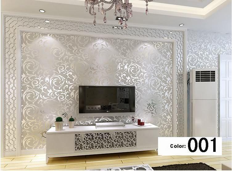 Italian Style Modern 3d Embossed Background Wallpaper For Living