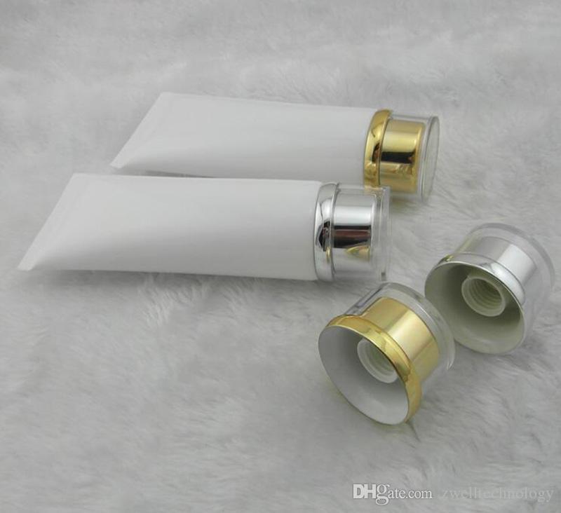 100 그램 투명 플라스틱 로션 부드러운 튜브 병 젖빛 샘플 용기 빈 화장품 메이크업 크림 용기