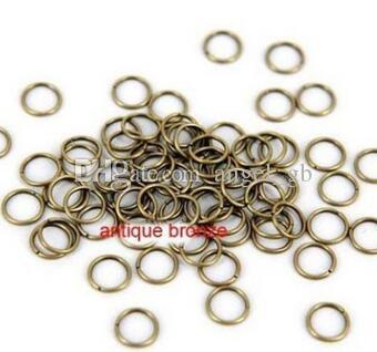 4mm 5mm 6mm Brass Open Jumprings Antique Brass Tone Metal Bronze Jump rings - split rings DIY supplies jewelry accessories