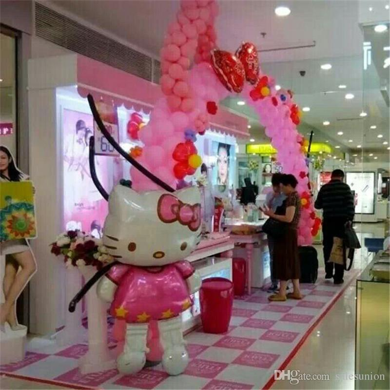Große Cartoon KT Katze Aluminium Film Ballons Kinder Geburtstag Helium Ballon Party Hochzeit Dekorationen Liefert 70X114 CM