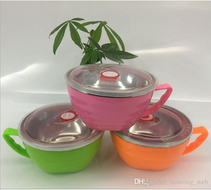 2017 New Stainless Steel Bento Box Tableware Instant Noodles Cup Portable Dinner Bucket Food Container Multifunctional Lunch Boxes