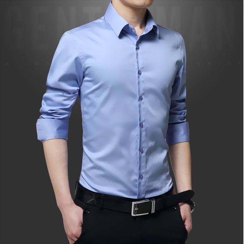 Fit Slim Primavera Homens Plus Atacado Size Camisas 2017 Moda Compre 1Jc3ulTKF