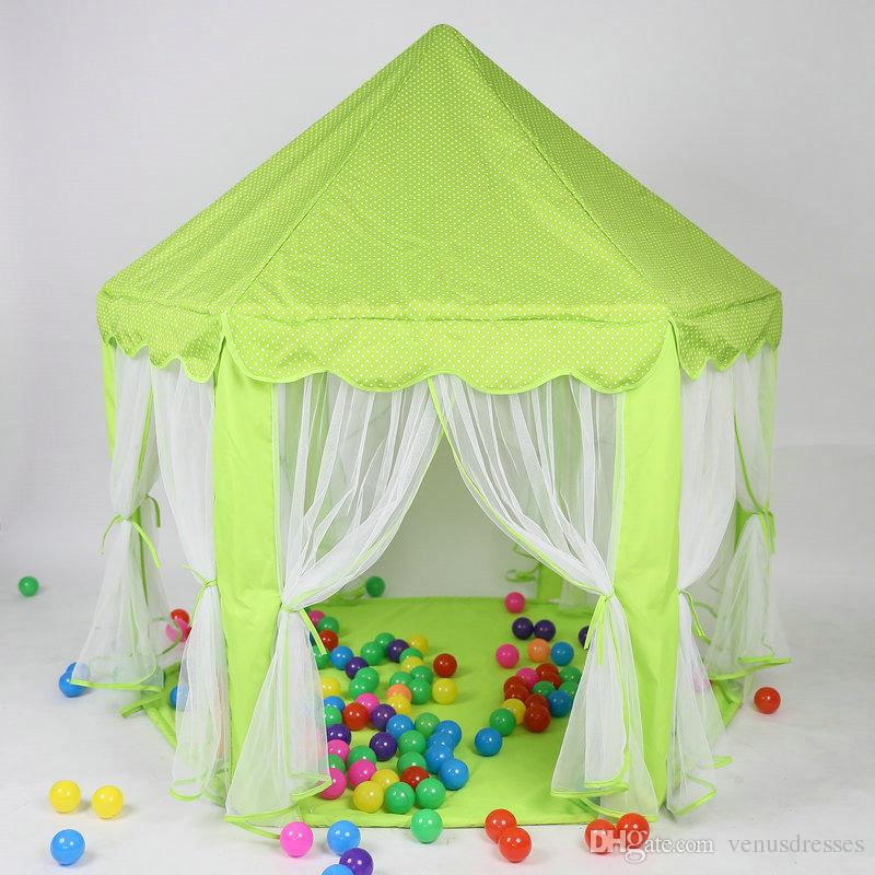 New Fashion Baby Toy Play Game House Huge Child Beach Tent Kids Princess Prince Castle Tents Indoor Outdoor Toys Tents Best Christmas Gifts