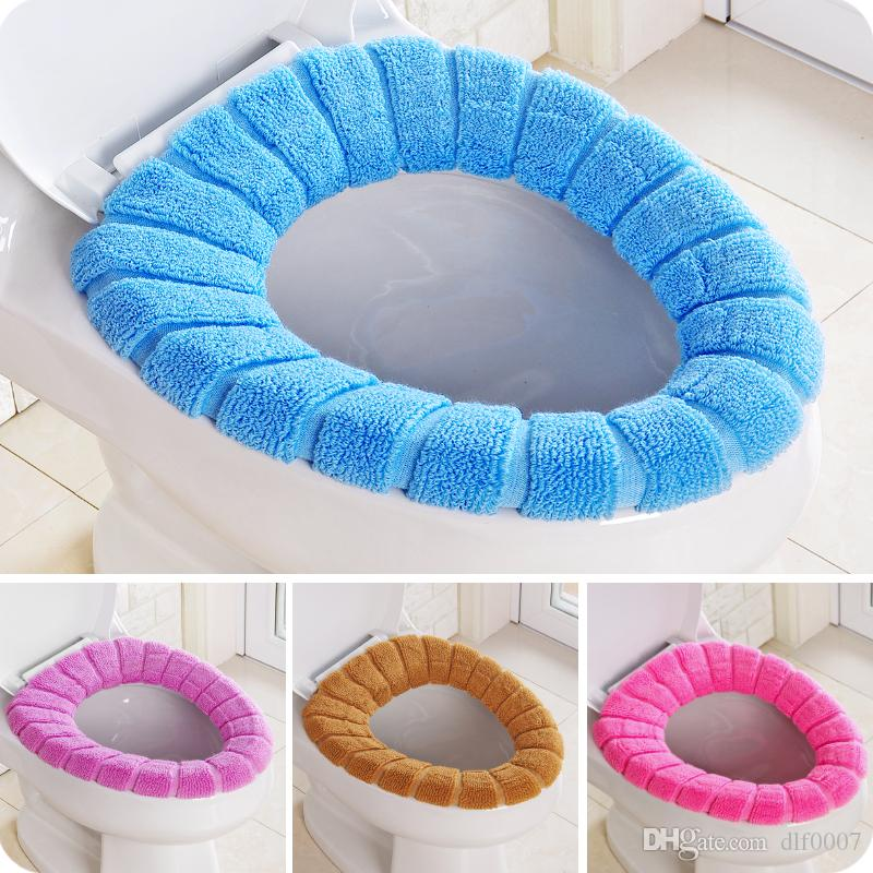 Sticky Toilet Mat Soft Warm Seat Heated Closestool Pad High Quality Washable Cover Covers
