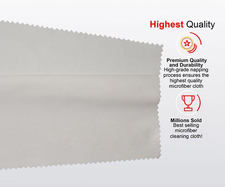 40x40см Большой лабораторный размер Одежда Очки Аксессуары Ткань для очистки Микрофибра Солнцезащитные очки Очки Экран камеры Очки Duster Wipes