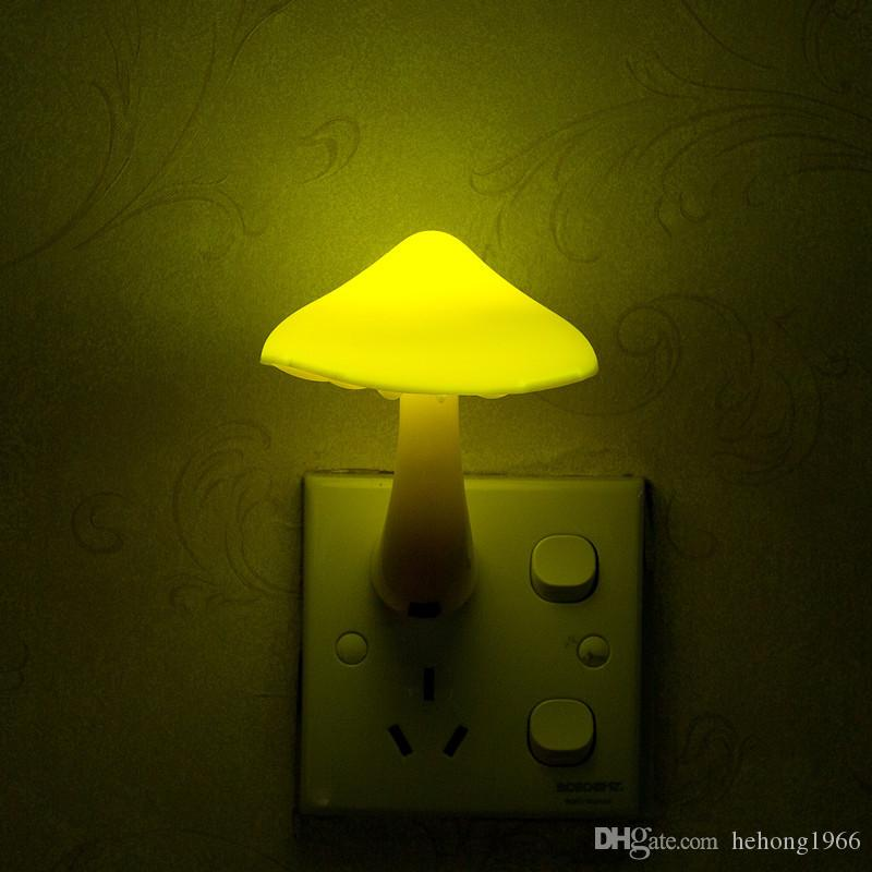 Mushroom Led Night Light Children Room Decoration Electric Induction Wall  Socket Lamp Home Decor Lights Controlled Sensor 3 9cr C R Gifts Gifts And  ...
