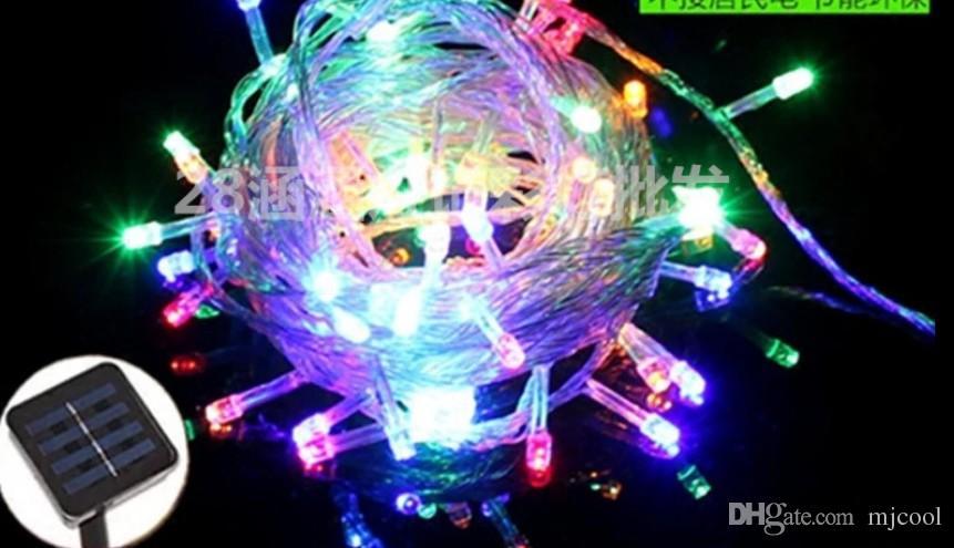 LED Small Lanterns Solar Lights String Knipperende Tuin Decoratieve Lichten Outdoor Landschap Waterdichte Bloem String Lights