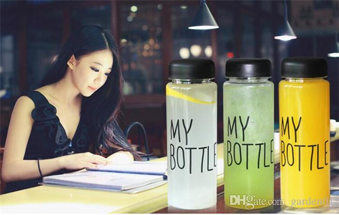 My bottle water Bottle Korea Style New Design Today Special Plastic Sports Water Bottles Drinkware With Bag Retail Package G036
