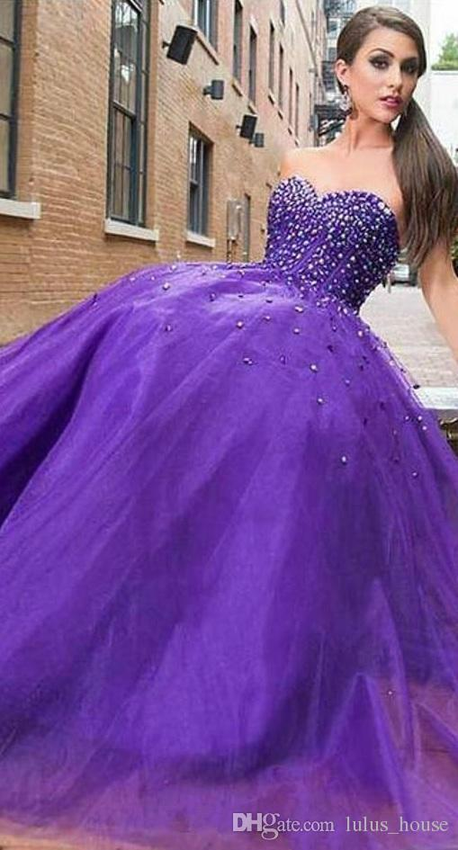 2017 Shiny New Luxury Strapless Beaded Long Quinceanera Dresses Sexy Gauze Tutu Prom Evening Gowns Charming And Beautiful Pageant Dress