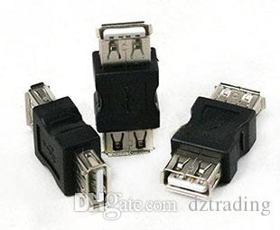 Оптовая продажа 300 шт./лот мини USB 2.0 женский A к USB 2.0 женский B адаптер разъем