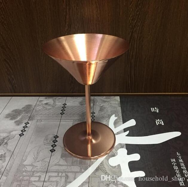 Rose Gold Stainless Steel Goblet Wine Glasses Cocktail Goblets Champagne Cup Wine Glass for Bar Party Cocktail Red Wine