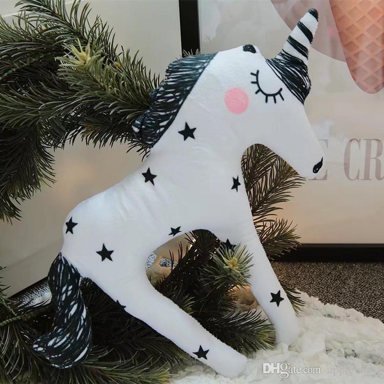 INS decorative unicorn toy Plush Toys pillow photo children's room layout pony doll Plus Animals wholesale