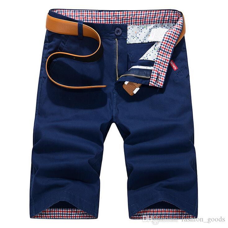Summer men's leisure thin section 5 points tide straight shorts MS001 Men's Shorts