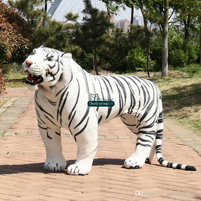 2019 Dorimytrader Huge 110cm Soft Simulation Animal White Tiger