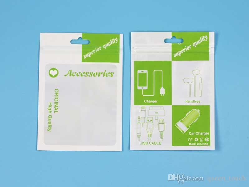 Accesorios de plástico empaquetado al por menor bolsos de mano Hole Casos envasados cremallera Poli OPP PVC cajas de embalaje 10.5 * 15cm para el teléfono celular