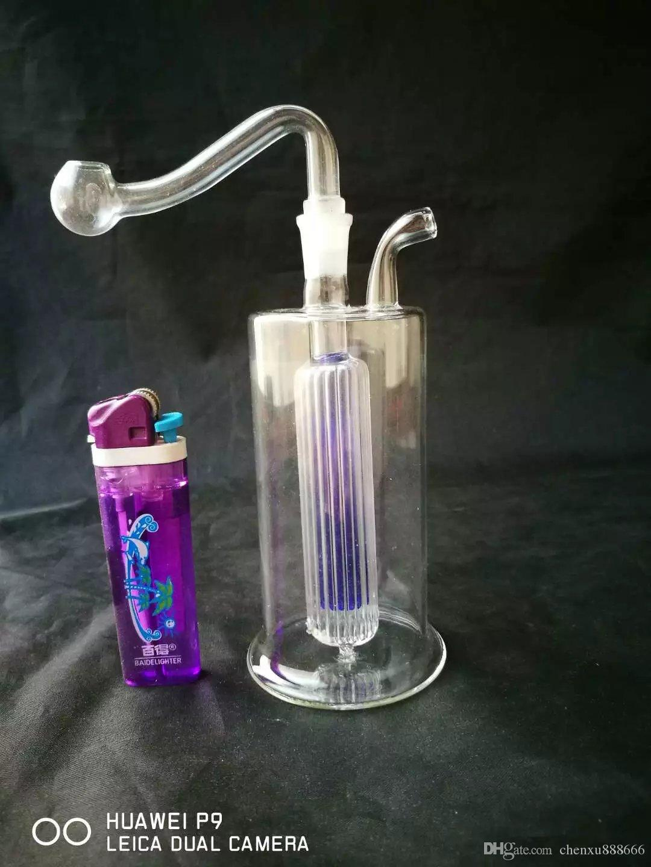 두 색 후크 bongs 액세서리, 유리 물 파이프 담배 파이프 Percolator 유리 봉 오일 버너 물 파이프 오일 넝마 Dropp와 흡연