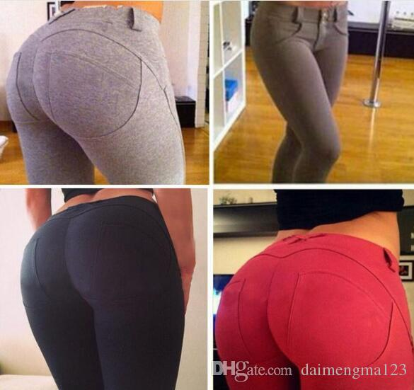 best price Sexy Women Butt Lift Pants Colombian Brazilian Style Stretchy Skinny Leggings Pencil Slim Jeans Thin Capris Trousers M008