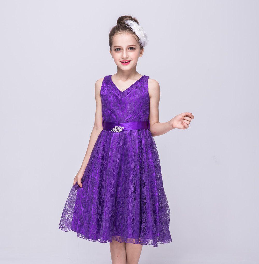 2018 Cute New Girl Dresses Sleeveless Vest Princess Lace Dress Baby ...
